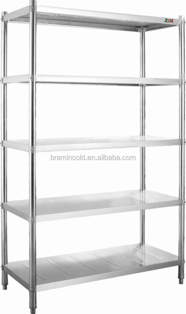 Restaurant supply stainless steel kitchen plate rack