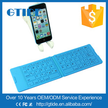 OEM/ODM Different Language Slim Ultra Portable Foldable Pocket Mini Gaming Bluetooth Wireless Silicone Keyboard for iPhone/iPad