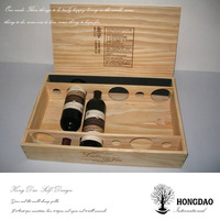 HONGDAO Wood Wine Box Christmas Decorative