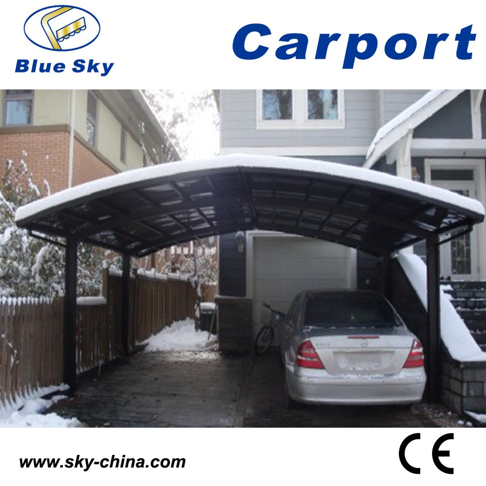 Polycarbonate and aluminum double carport shed lightweight electric scooter