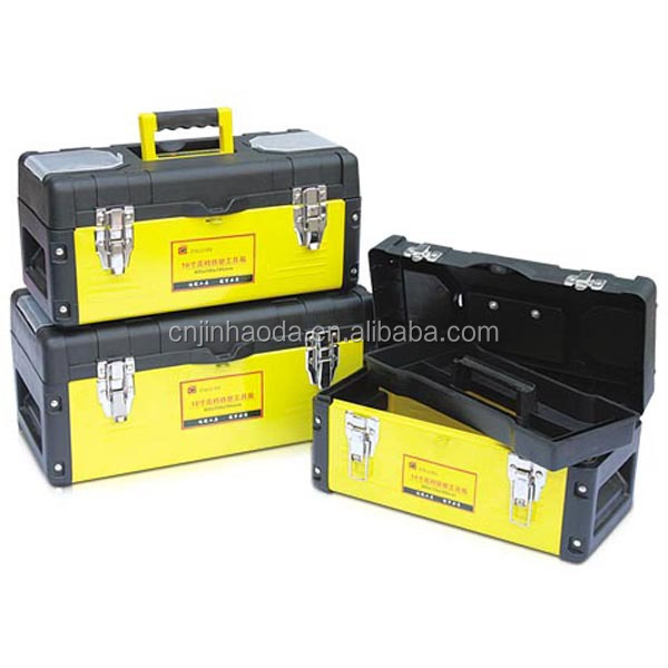 Jinhaoda hot sell cheap plastic metal tool box any color is available