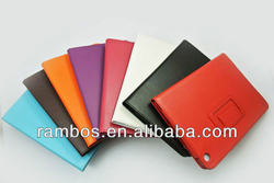 8 Colors Photo Frame Book Cover PU Leather Flip Stand Case for iPad 5