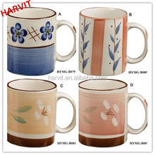 11oz Stoneware Mug/Wholesale Alibaba Straight Flower CeramicCups /New Product Coffee Tea Mug Cup