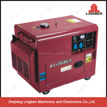 LingBen 3kw 4kw 5kw silent type united power portable diesel welder generator for sale