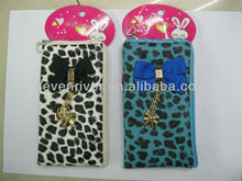 bow cell phone bag , customized logo and design mobile pouch