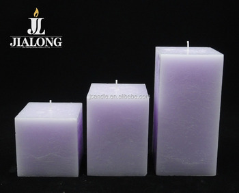 square shaped candle lavender fragrance aromatherapy candles