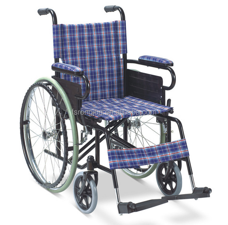 Manual standard wheel chair with hardened structure for elderly/disabled people RJ-W868