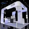 Detian Offer exhibition stand equipment stall and booth design exhibition stand cosmetics