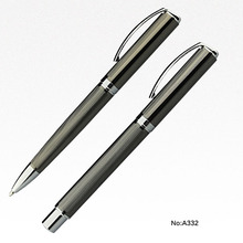 Newest arrive business gift pen set ball pen and roller pen gel ink