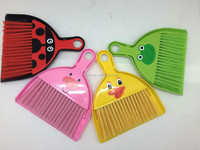 MIni printed plastic broom and dustpan set for table