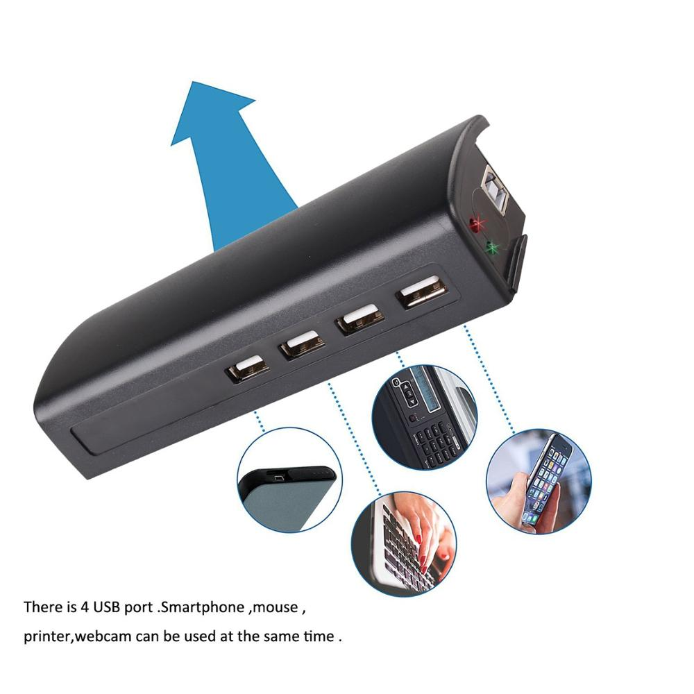 Black multi 4 usb ports bed foldable laptop stand