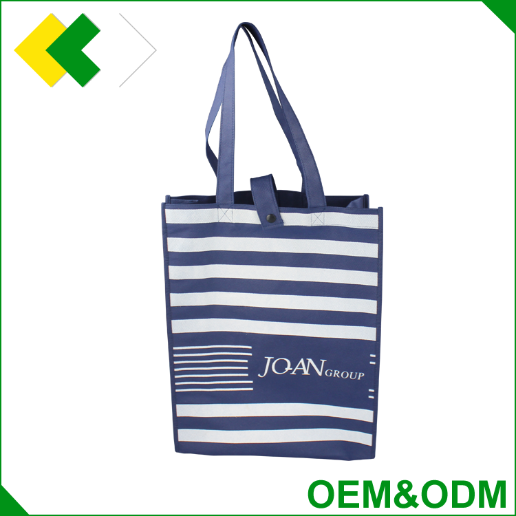 Factory price promotional reusable tote shopping pp nonwoven bag durable Logo printing non woven bag 2 color