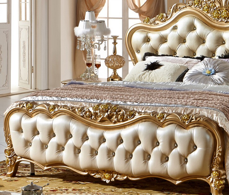 classical double bed with hot selling model