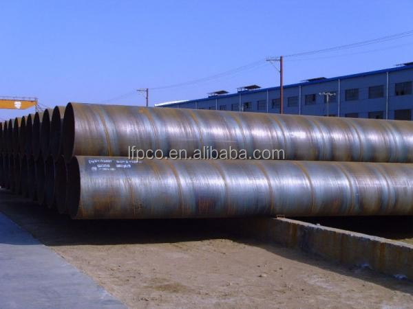 erw round API 5L Spiral steel pipe with liquid delivery