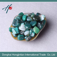 Bulk wholesale natural green agate tumbled stone for sale
