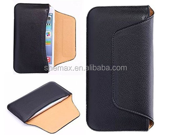 PU Leather ultra thin Waist cellphone Pouch case cover bag with Belt Clip/ Pocket Money Purse for iphone 6 4.7/Samsung Galaxy S