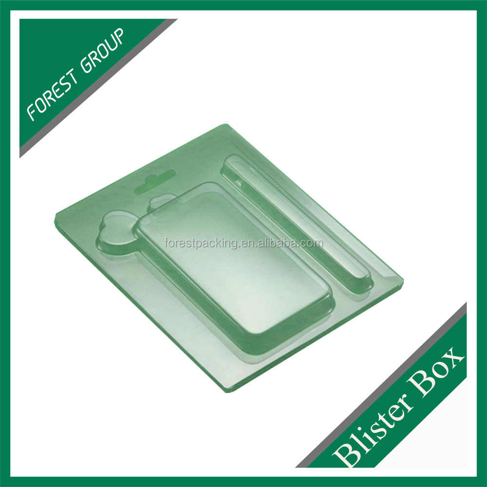 CHINA MADE CUSTOM SIZE BLISTER PLASTIC PVC PACKAGING BOX FOR CELL PHONE CASE