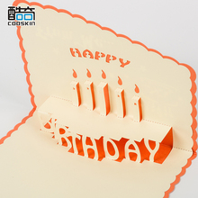 Low cost high quality paper greeting card 3d birthday card