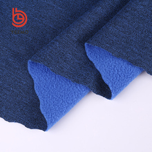 latest design plain cationic 100% polyester knitted fleece fabric with high quality