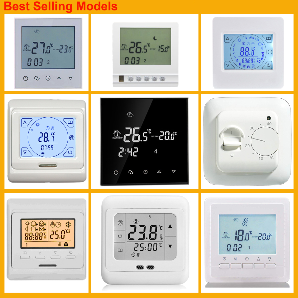 weekly programs Direct Easy Installation thermostat for heating film