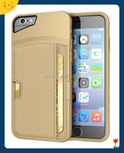 2015 China wholesale! Back cover wallet case for apple iphone 6 card slot phone leather case