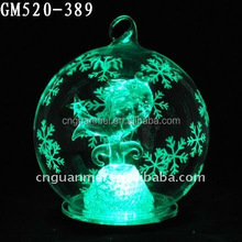 Wholesale Outdoor Christmas Decorative Lighte Glass Ball