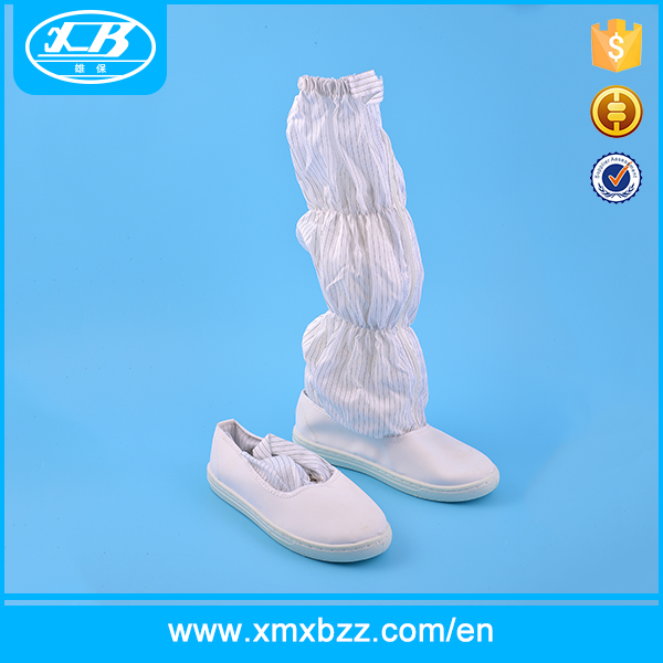 Hot sale white PU cleanroom esd boots