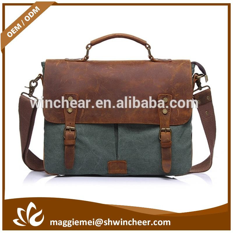 Wholesale men canvas bag, canvas school messenger bag, cheap price men messenger bag