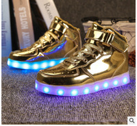 LED lights up shoes sneakers USB charger for child adult