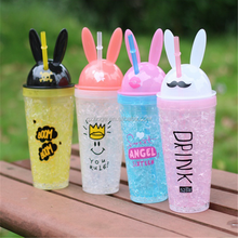Cool Gear Rabbit Ear Design Double Wall Gel Freezer Chiller Tumbler Ice Cup