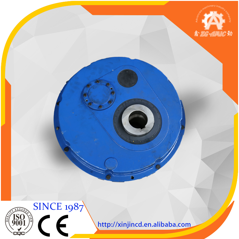 High quality high torque hollow shaft mounted hanging gearbox for belt drive conveyor