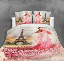 wholesale microfiber polyester 3d bed sheet bedding set made in china