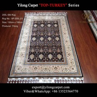 4x6 Vintage Turkish Hand Knotted Silk Carpet Floral Living Room Persian Rugs