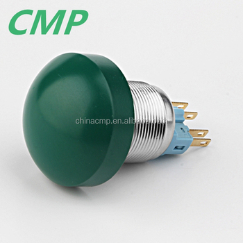 22mm Big Mushroom Pushbutton Switch (Green)