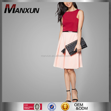OEM Service Supply Type For Polyester Cotton Spandex Ladie's Casual Dresses No Sleeve Slim Dress Fashion Girls Dress