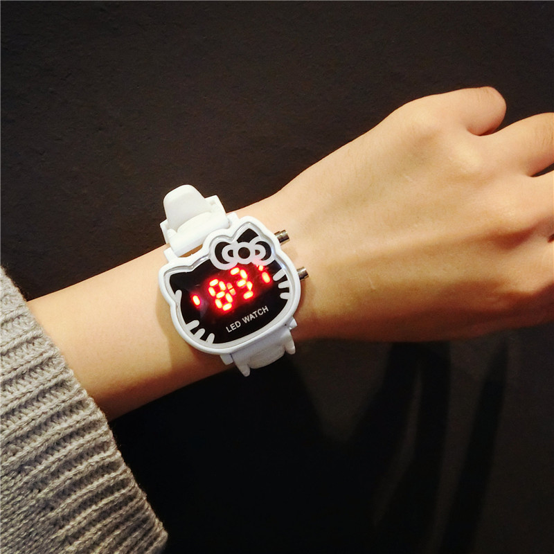 lovely design water proof silicone jelly LED wrist watch gift women children