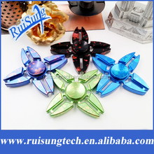 Four Corners Crab Star Rotation Long Tri-Spinner Fidget Metal EDC Fidget Spinner Hand Spinner For Kids Adults Anti Stress Toy