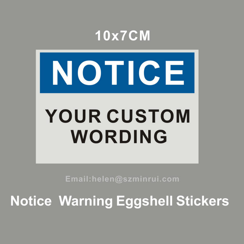 Notice Warning Egg Shell Sticker,Non Removable Eggshell Shipping Seals