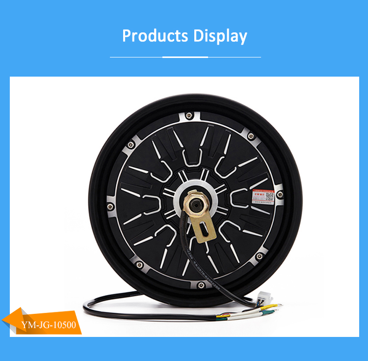 10 Inch 500W 60V High Speed Brushless Dc Electric Wheel Hub Motor Motorcycle