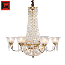 More Led Light Pendant Chandelier Bronze K9 Crystal Lighting For Indoor Dining Lamp Decorative Candel Lamp