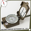 Multifunctional pocket zinc alloy high quality compass with luminous dial