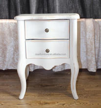 French Country Style Bedroom Antique White Bedside Table