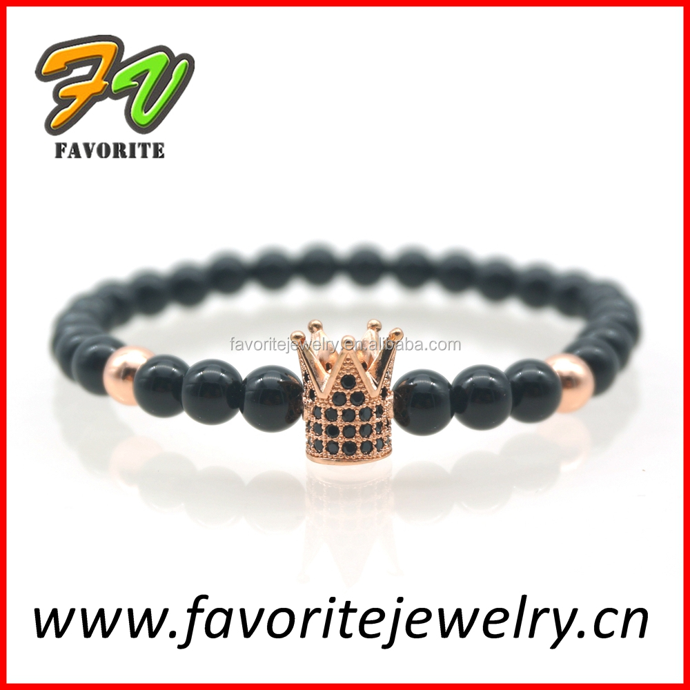 traditional jewellery 8mm beads crown beads bracelet