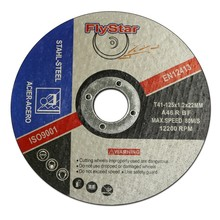 Abrasive tools 5'' 125x1.6x22mm China cutting disc in Linyi