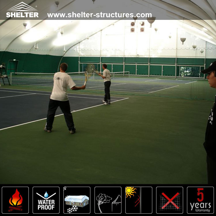 TFS tent cover for indoor tennis court 36x36m