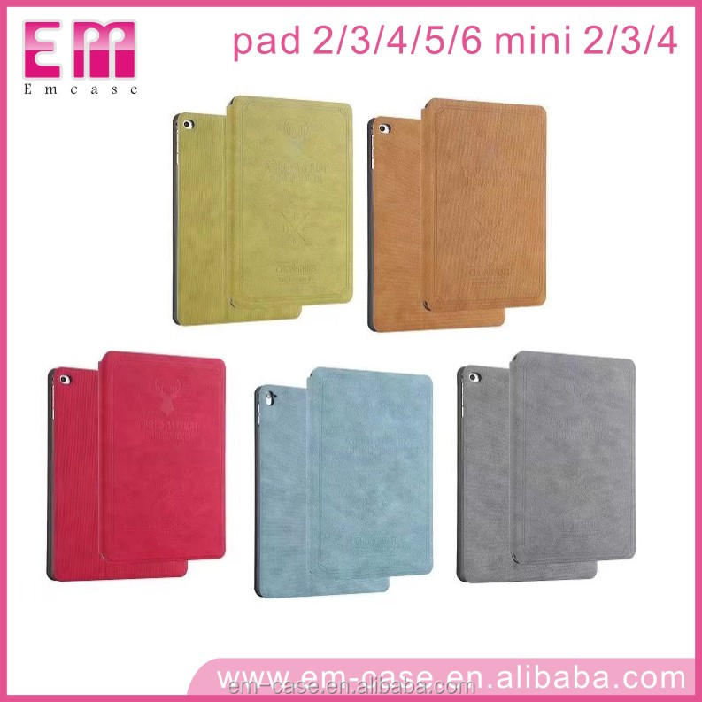 For Ipad Leather Case Wallet Cover,Stand Leather Case For Ipad mini2 3 4