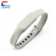 custom silicone rubber rfid chip NTAG 213 nfc wrist band