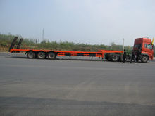 3 axle low bed semitrailer for 80T loading capacity with BPW axles