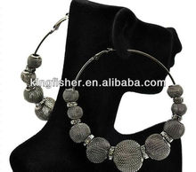 Wholesales Grey mesh balls basketball earrings!! Rhinstone beads inspired Basketball wives Earrings!! Hottest!! Low prices!! !!