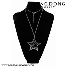 Gun color star shape inside hollow star style Necklace Jewelry Necklace Jewelry Necklace